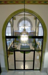 Arched doorway into main office